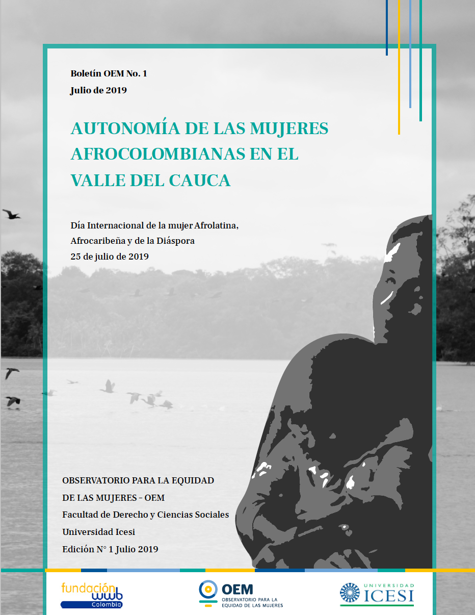 Boletín OEM 1 - Autonomía de las mujeres afrocolombianas en el valle del cauca