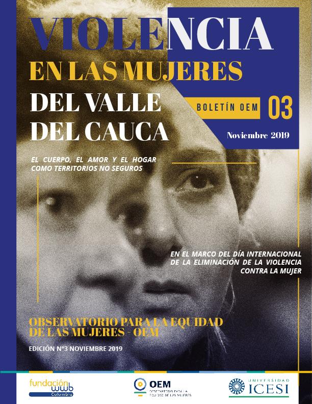 Boletín OEM 3 - Violencia en las mujeres del Valle del Cauca